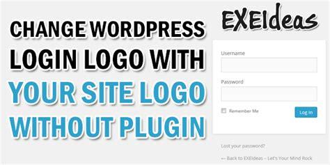 change wordpress login logo   site logo