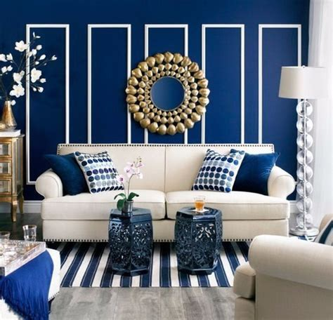 Decorating Ideas Navy Blue Walls by Modern Living Room With Navy Blue Walls