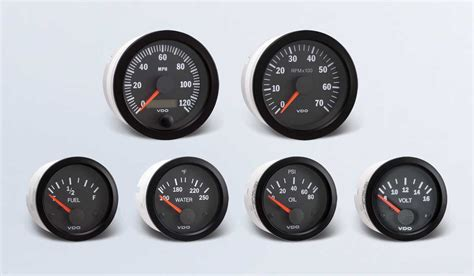 Boat Gauges Set Uk by Vision Black By Series Instruments Displays And