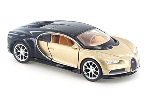The £1.9m chiron is built to bend physics to breaking point. ~ Welly Bugatti Chiron, Gold w/ Bla (end 8/23/2021 12:00 AM)