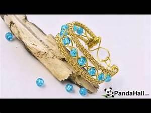 Comment Faire Un Bracelet En Perle : vid o 55 p comment faire un bracelet d 39 or avec perles en verre et fil m tallique youtube ~ Melissatoandfro.com Idées de Décoration