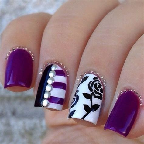 nail design pictures 50 black and white nail designs