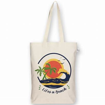 Bag Tote Beach Natural Gusset Canvas Bags