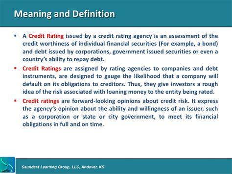 bureau definition intro to credit rating agencies