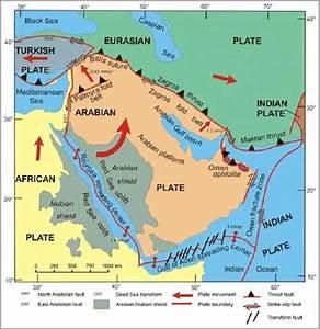 Arabian Plate Boundaries And Relative Movements  Johnson