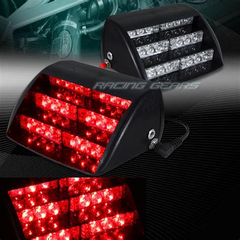 red led vehicle warning lights 18 led red car truck emergency warning dashboard interior