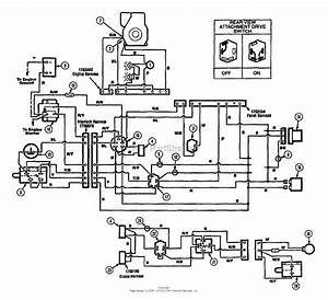 Troy Bilt 13027 14hp Hydro Suburban Tractor  S  N 130270100101  Parts Diagram For Wiring Diagram