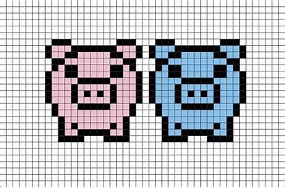 Pixel Pigs Animals Animal Pig Dibujos Pixelados