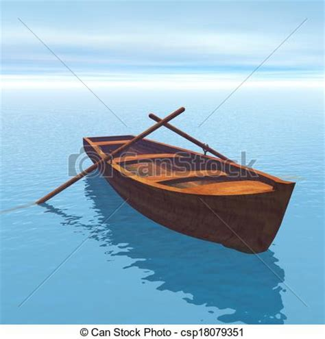 Wood Boat Drawing by Stock Illustrations Of Wood Boat 3d Render Wood Boat