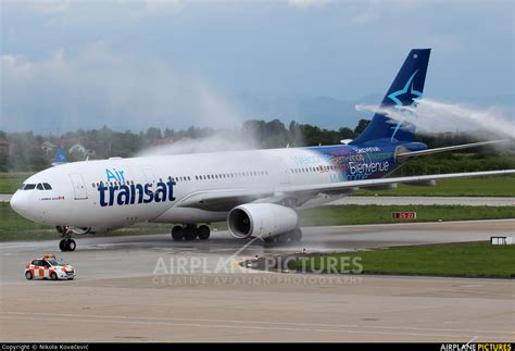 c gtsr air transat airbus a330 200 at zagreb photo id