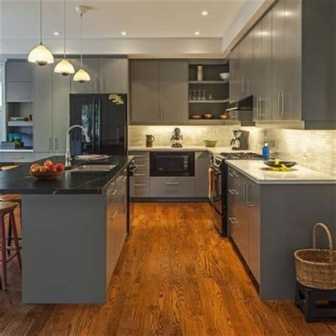 gray wood kitchen cabinets grey kitchen cabinets with grey wood flooring gray