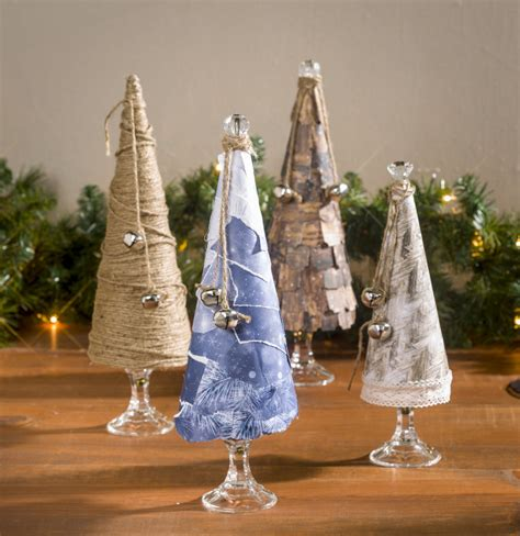 winter paper mache cone tablescape craft warehouse