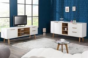 Design Tv Lowboard : design lowboardtv board nordic 150cm klassiek mat wit echte eiken ~ Frokenaadalensverden.com Haus und Dekorationen