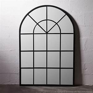 Miroir Metal Noir : miroir atelier grand format en m tal forme arcade decoclico factory noir charbon decoclico ~ Teatrodelosmanantiales.com Idées de Décoration