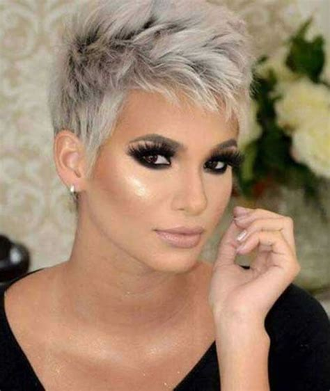 Best styling ideas for straight short hair. Gray Hair Colors for Short Hair - Pixie and Bob Hairstyles - Page 2 - HAIRSTYLES