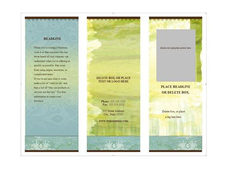 Template For Brochure Free by 31 Free Brochure Templates Ms Word And Pdf Free