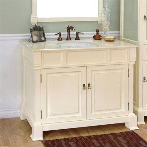 bellaterra  single sink bathroom vanity cream white