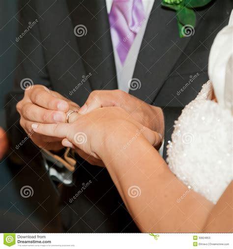 wedding ceremony ring exchange stock photos image 30824853
