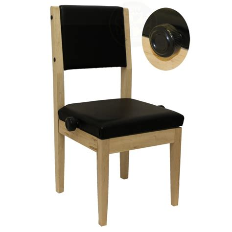 black premium vinyl piano bench chair with back support