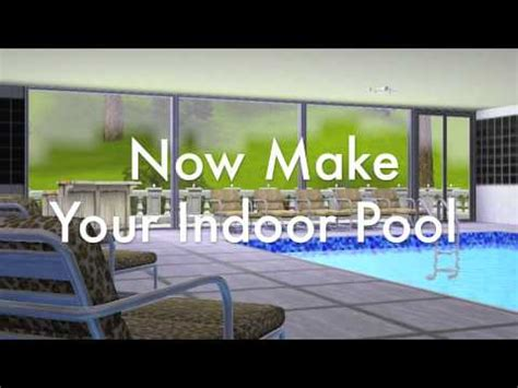 How To Make An Indoor Pool In The Sims 3! Youtube