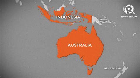 indonesia australia map