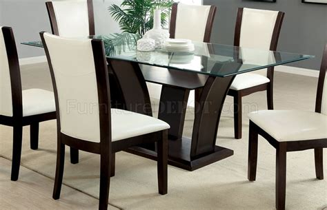cm3710t wh manhattan i dining table w optional white chairs
