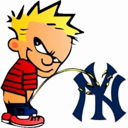 Piss Peeing Calvin Yankees Pissing Fans Memes