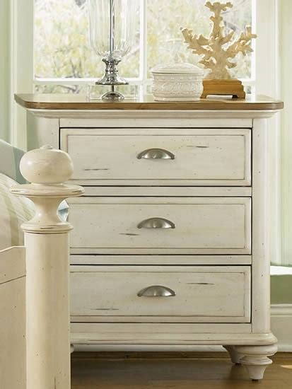Distressed White Washed Nightstands Bedroom Redo Designs