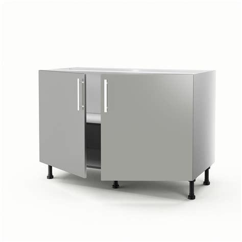 meuble de cuisine sous 233 vier gris 2 portes d 233 lice h70xl120xp56 cm leroy merlin