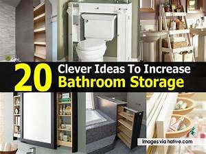20 Clever Ideas To Increase Bathroom Storage