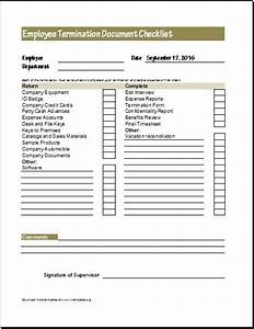 Document checklists for new terminated employee excel for Documents required for job work