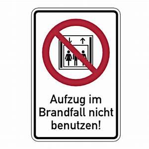 Rettungsleitern Für Den Brandfall : brandschutzschild aufzug im brandfall nicht benutzen mit ~ Lizthompson.info Haus und Dekorationen