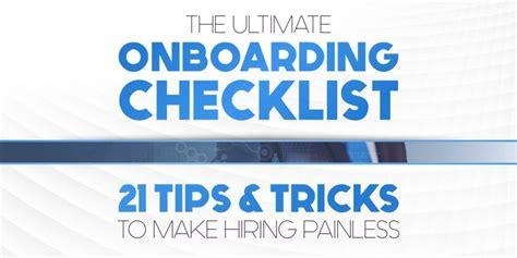 ultimate onboarding checklist  tips tricks