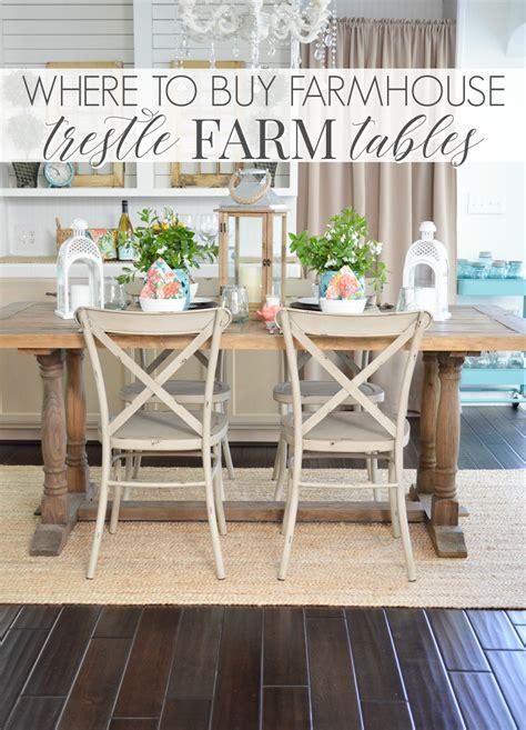 where to buy dining table where to buy a farmhouse trestle style farm table fox