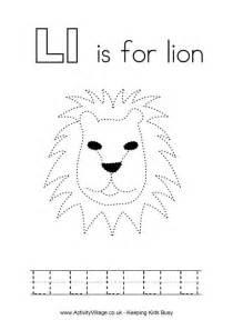 tracing alphabet l