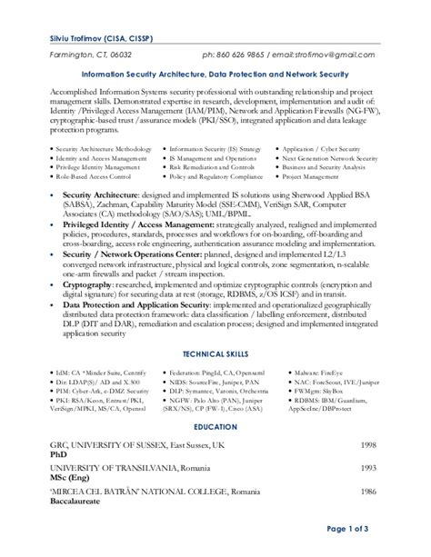 Cisa Resumen by Resume Strofimov