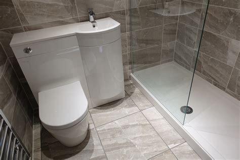 walk  shower  modern toilet  basin  storage