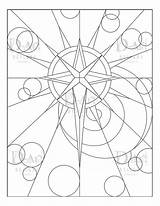 Coloring Star Spiral Scape Cosmic Circles Instant Zoom sketch template
