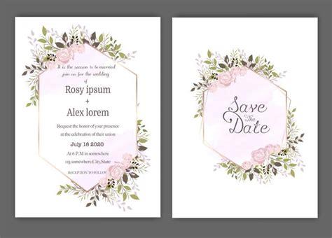 Wedding invite invitation save the date card design with