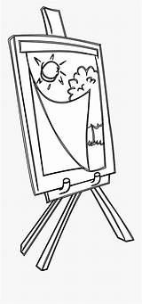 Easel Coloring Easels Drawing Clipart Clipartkey sketch template