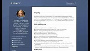 Create Your Cv Online Create Online Resume Visualcv Com Youtube