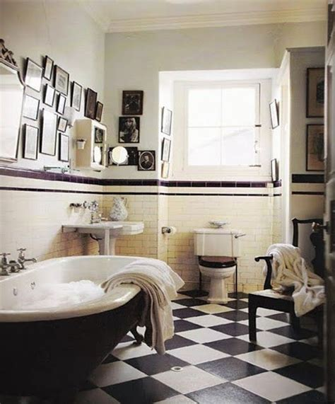 Black And White Tiled Bathroom Floor by 31 Retro Black White Bathroom Floor Tile Ideas And Pictures