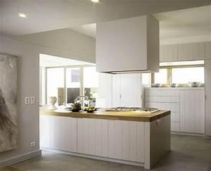 decoration cuisine chene clair exemples d39amenagements With deco cuisine avec buffet chene clair