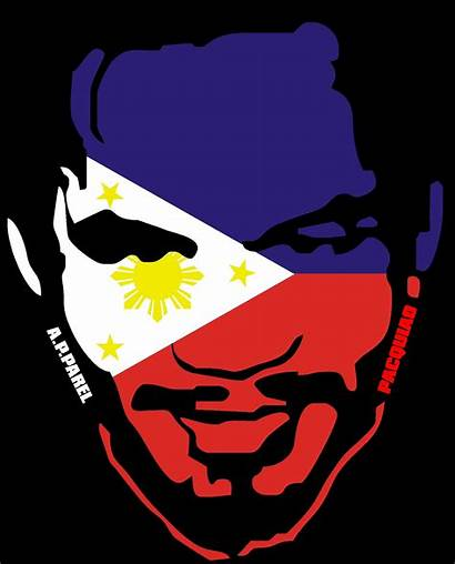 Flag Pacquiao Philippine Filipino Manny Face Map