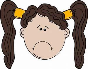 Sad Girl Clip Art at Clker.com - vector clip art online ...