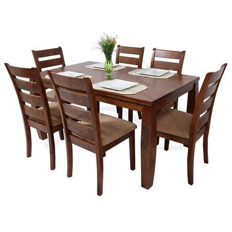 comedores de madera commodity juego de comedor horacio 6 sillas