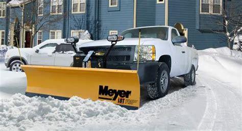 light duty truck plow meyer snow plows signature equipment