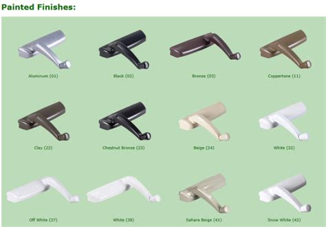 casement window standard roto crank handle  style custom finishes biltbest window parts