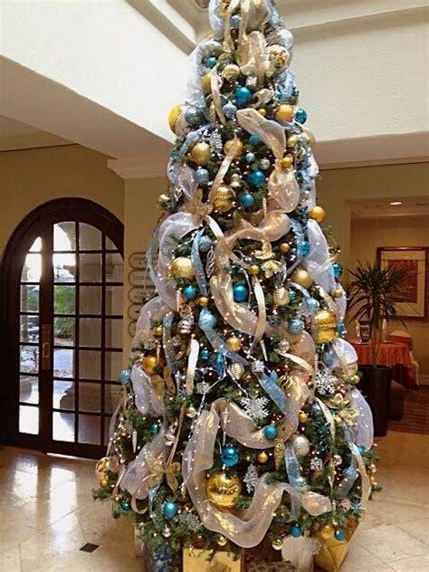 tiffany blue gold christmas tree christmas trees