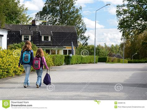 children going to school royalty free stock 26296145